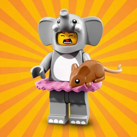 18001 LEGO Minifigurki 71021 - Dziewczyna w kostiumie słonia