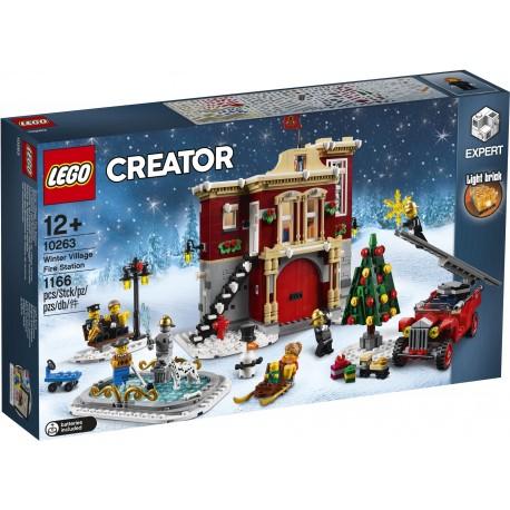 10263 Remiza strażacka w zimowej wiosce