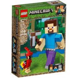 21148 Minecraft BigFig – Steve z papugą